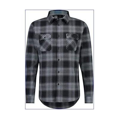 【新品】Jolt Gear フランネルシャツ メンズ - ドライフィット 長袖 ボタンダウン - 吸湿発散性 ストレッチ素材 格