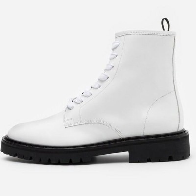 イロ メンズ 靴 シューズ WAYNE - Lace-up ankle boots - white