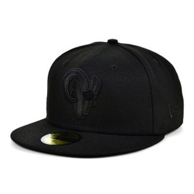 ニューエラ レディース 帽子 アクセサリー Los Angeles Rams Black on Black 59FIFTY Cap Black