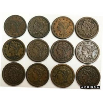 金貨 銀貨 硬貨 シルバー ゴールド アンティークコイン 1843- 1856 UNITED STATES (12) LARGE CENT COIN LOT HIGH GRADE CONDITIONS