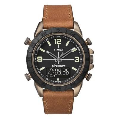 TIMEX タイメックス エクスペディション パイオニア コンボ 41MM TW4B17200 腕時計 メンズ ミリタリー アナデジ ブラック 黒 ブラウン 茶 レザー 革ベルト