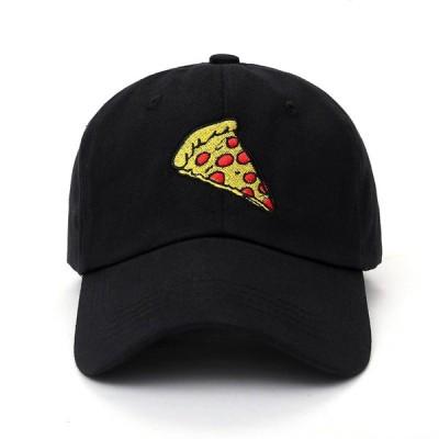 ピザ ベース ボール キャップ 野球帽 帽子 スポーツ プリント ロゴ テキスト 刺? デザイン カジュアル ソリッド ハット 男性 女性 スナップ
