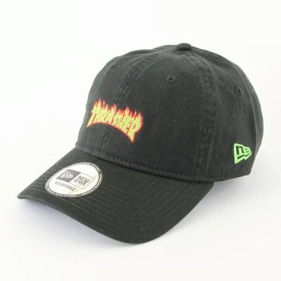 ニューエラ NewEraxTHRASHER コラボ 帽子 930 9THIRTY THRASHER スラッシャー ファイアロゴ ブラックxローリングメドウ