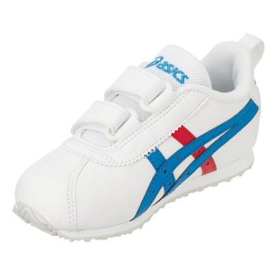 [アシックス]CORSAIR(R)MINI SL 2 ホワイト×ディレクトワールブルー 子ども靴