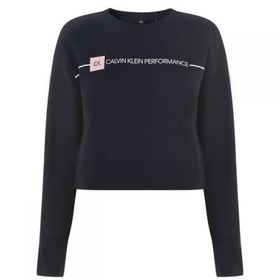 カルバンクライン Calvin Klein Performance レディース スウェット・トレーナー トップス Logo Sweatshirt Night Sky