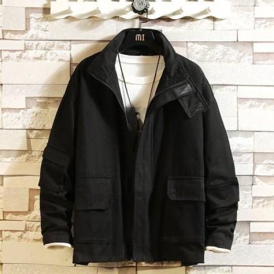 メンズ中綿ジャケットフード付き長袖ジャケット防寒秋冬メンズ用新品中綿ジャケット