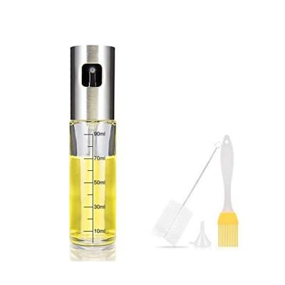 オイルスプレー 料理用 100ml iTrunk 油 スプレー ボトル 霧吹き olive oil spray オリーブオイル ミスト 透明ガラス 油