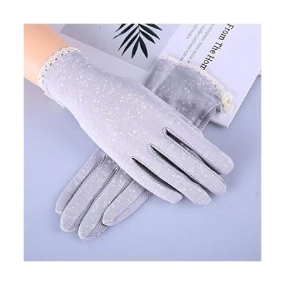 手袋 夏 レディースグローブ 日焼け対策 メッシュ レース 薄型 手袋 タッチパネル対応 スマホ手袋 おしゃれ エレガント 花柄 滑止め付