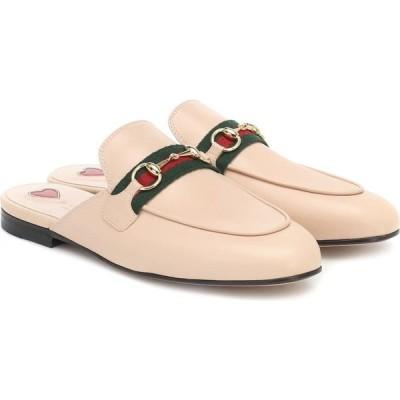 グッチ Gucci レディース スリッパ シューズ・靴 princetown leather slippers Skin Rose