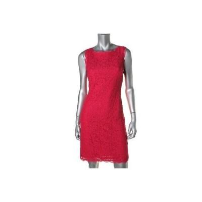 ドレス 女性  アドリアナパぺル Adrianna Papell 3945 レディース レッド Lace ノースリーブ オープン Back Cocktail ドレス 12
