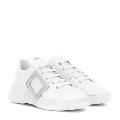 ロジェ ヴィヴィエ Roger Vivier レディース スニーカー シューズ・靴 Viv Skate Leather Sneakers bianco/silver buckle