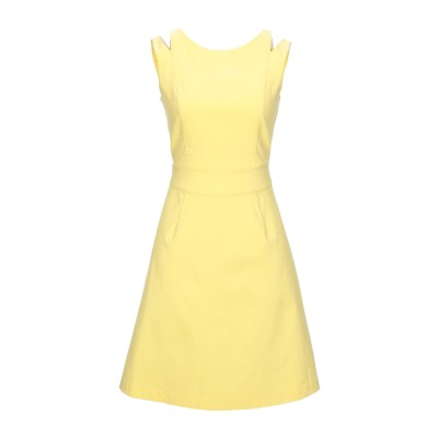 VILA ミニワンピース&ドレス イエロー 34 レーヨン 79% / ナイロン 18% / ポリウレタン 3% ミニワンピース&ドレス