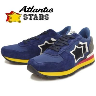 Atlantic STARS アトランティックスターズ メンズ スニーカー ANTARES アンタレス BLUE/GRAY 89B レザー カジュアル シューズ ローカット 靴
