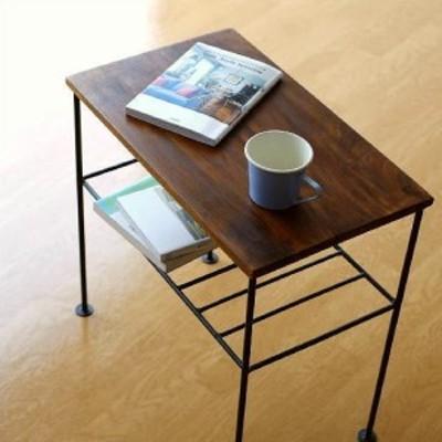 サイドテーブル 木製 アイアン おしゃれ ソファ ベッド テーブル ベッドサイド スリム ベッドサイドテーブル シーシャムサイドテーブル A