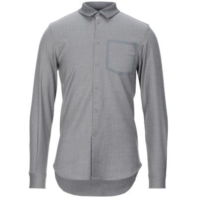 エンポリオ アルマーニ EMPORIO ARMANI シャツ グレー 39 ウール 98% / ポリウレタン 2% シャツ