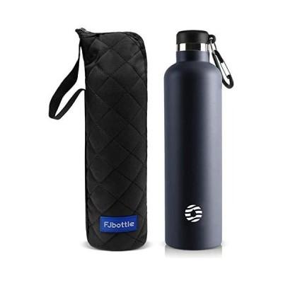 FJbottle 1リットル ステンレスボトル 真空断熱 保温保冷 水筒 第2世代 直飲み スポーツボトル 漏れなし (ブルー 1000ML)