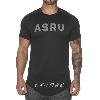 トレーニングウェア ジムウェア ランニング Tシャツ メンズ 半袖 ロゴプリント トップス 運動着 カジュアル 吸汗速乾 夏新作