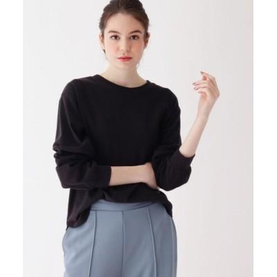 (pink adobe/ピンクアドベ)【WEB限定LLサイズあり】ラウンドデザイン ロングTシャツ/レディース ブラック(015)
