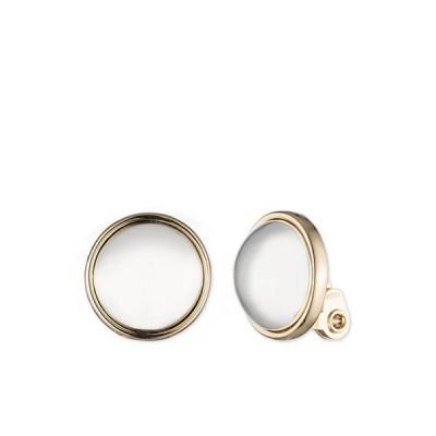 ラルフローレン レディース ピアス・イヤリング アクセサリー Silver-Tone Clip Button Earrings