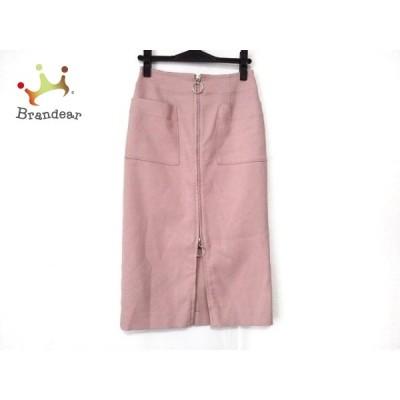 ノーブル NOBLE ロングスカート サイズ36 S レディース 美品 - ピンク 新着 20200704