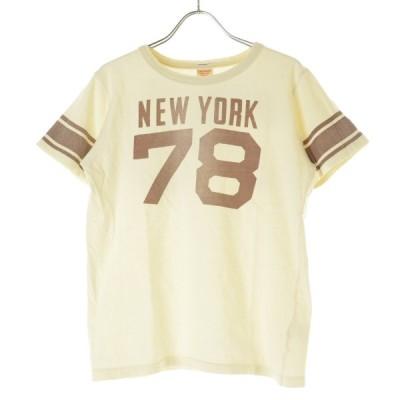 DENIM DUNGAREE / デニム&ダンガリー ヴィンテージ加工 フットボール 半袖Tシャツ