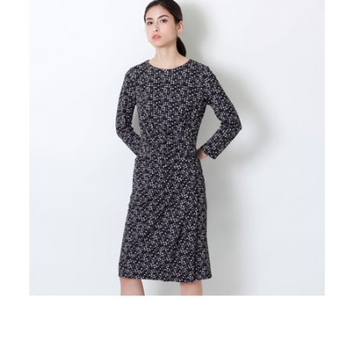 【EPOCA THE SHOP限定】マーブルドットプリントドレス