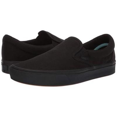 バンズ ComfyCush Slip-On メンズ スニーカー 靴 シューズ (Classic) Black/Black