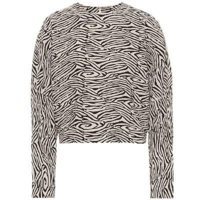 ナヌシュカ Nanushka レディース トップス Louise cropped zebra-print sweater Zebra Block Print
