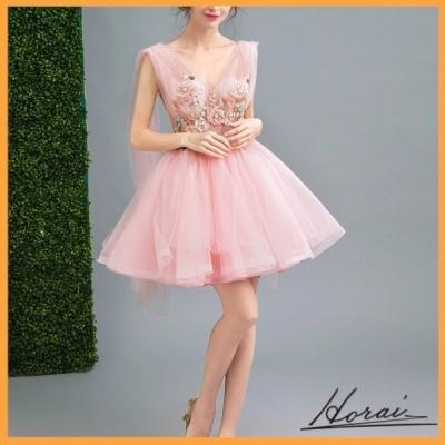 ウェディングドレス ノースリーブ ミニ丈 レース 花装飾  ドレス 結婚式 二次会 20代 30代 40代 お取り寄せ