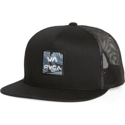 ルーカ RVCA メンズ キャップ トラッカーハット 帽子 VA All the Way Print Trucker Hat Black