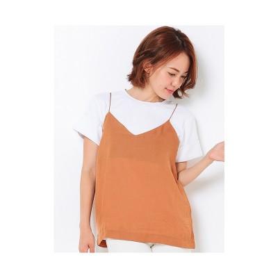 LAGUNAMOON Tシャツ×キャミSETトップス ホワイト
