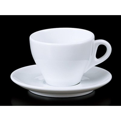 コーヒーカップ ソーサー/ 8003ラテC/S /碗皿 業務用 ホテル レストラン ホワイト シンプル