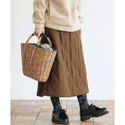 スカート サニークラウズ ウールキルティングスカート〈レディース〉
