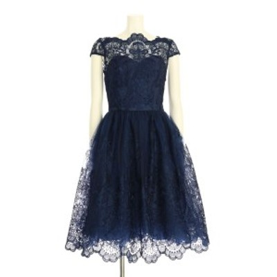 チチロンドン Chi Chi London ドレス サイズM レディース 新品同様 ネイビー系 カクテルドレス ポリエステル100%【中古】20200604