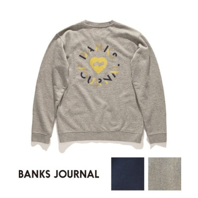 【SALE】BANKS JOURNAL(バンクスジャーナル)HEART CIRCLES CREW ハートサークルクルー