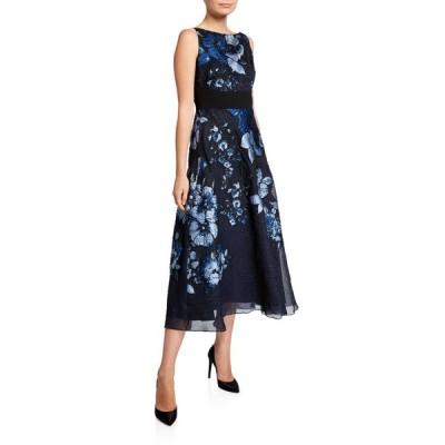 リラローズ レディース ワンピース トップス Floral Jacquard A-Line Dress