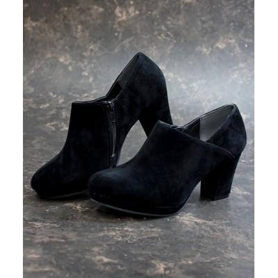 ZealMarket/SFW / シルエットと履き心地を追求したチャンキーヒール美脚ショートブーティ WOMEN シューズ > ブーツ