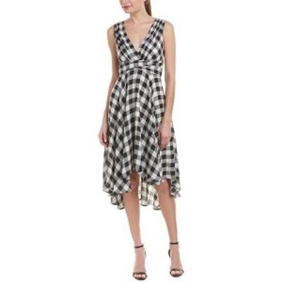 エヴァフランコ レディース ワンピース トップス Eva Franco A-Line Dress white and black plaid