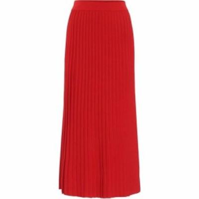 バレンシアガ Balenciaga レディース ひざ丈スカート スカート pleated midi skirt Red