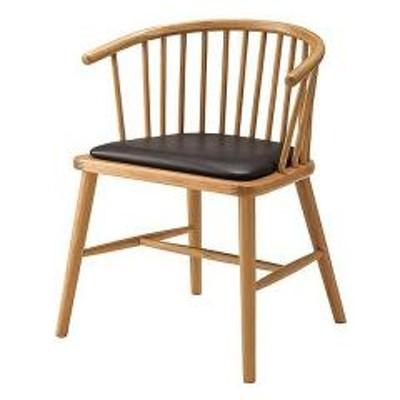 ダイニングチェア 椅子 天然木 ソフトレザー 座面高47cm (  イス いす チェア チェアー 完成品 ダイニングチェアー 食卓椅子 リビングチェア )