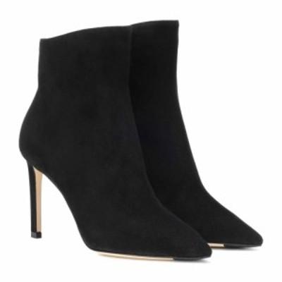 ジミー チュウ Jimmy Choo レディース ブーツ ショートブーツ シューズ・靴 Helaine 85 suede ankle boots Black