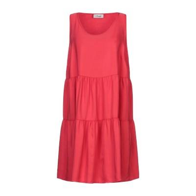 CROCHÈ ミニワンピース&ドレス レッド XL テンセル 100% ミニワンピース&ドレス