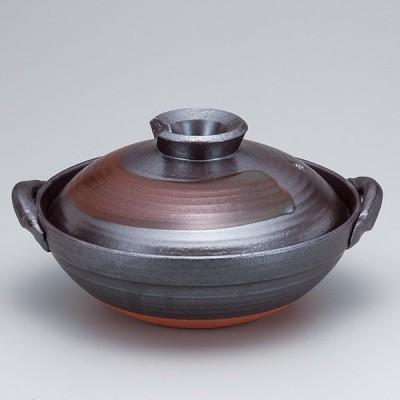 和食器 土鍋 万古焼 伊賀南蛮6.0京型鍋 お鍋 食器 おうち 直火