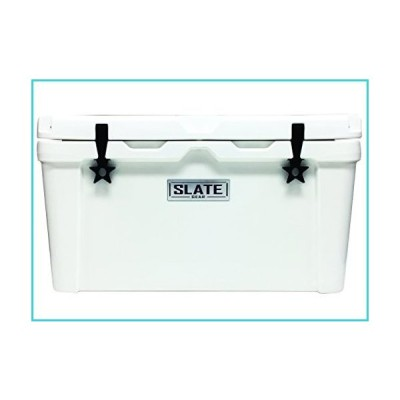 Slate Gear Roto Molded YETI, RTIC Style Cooler. Heavy Duty, Fishing and Camping Ice Chest. (75 Quart, White)【並行輸入品】