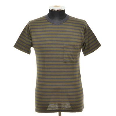 ダブルワークス DUBBLE WORKS スーピマボーダーTシャツ SUPIMA BORDER T ショートスリーブ 半袖 サイズS 36136006 中古 古着