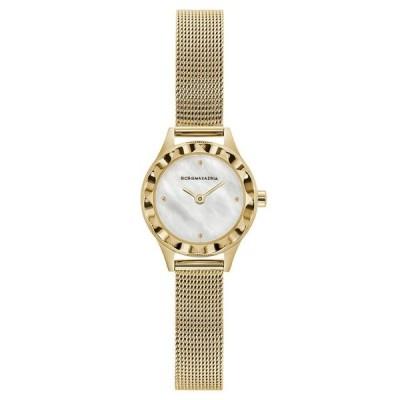 ビーシービージーマックスアズリア レディース 腕時計 アクセサリー Ladies Round Goldtone Stainless Steel Mesh Strap Watch 24mm