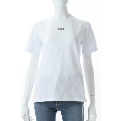 エムエスジーエム MSGM Tシャツ 半袖 丸首 クルーネック 3041MDM100217298 01 レディース 041MDM100217298 ホワイト 2021年春夏新作