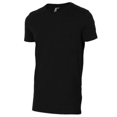 【即納】エイソス ASOS メンズ Tシャツ トップス Longline T-Shirt With Crew Neck Black