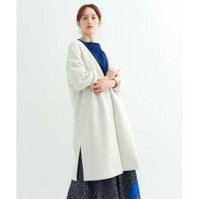 INDIVI/インディヴィ 【ハンドウォッシュ】ライトダンボールジャージコート アイボリー(004) 36(S)