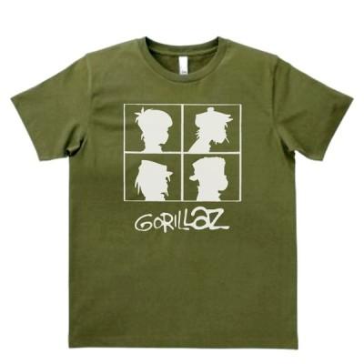 音楽・バンド・ロック・シネマ  Tシャツ GORILLAZ カーキー MLサイズ